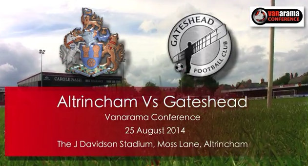 Watch highlights of Altrincham's Bank Holiday defeat to Gateshead