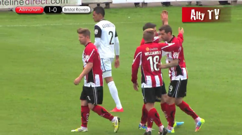 Watch highlights from Altrincham's 2-1 win over Bristol Rovers
