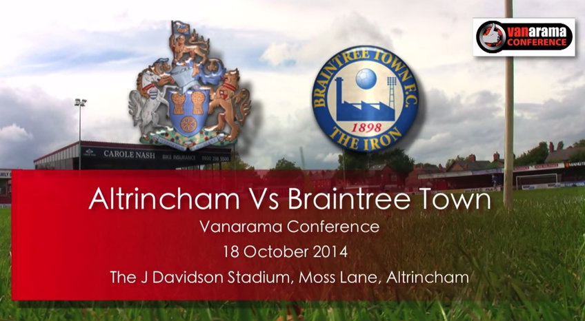 Watch highlights of Altrincham's 1-0 win over Braintree Town