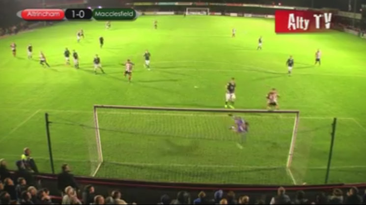 """""""This place is going barmy!"""" Watch James Lawrie's stunning last-minute winner as Altrincham win local derby"""