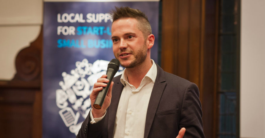 Apprentice star Neil Clough joins 12 Altrincham businesses at launch of start-up support group