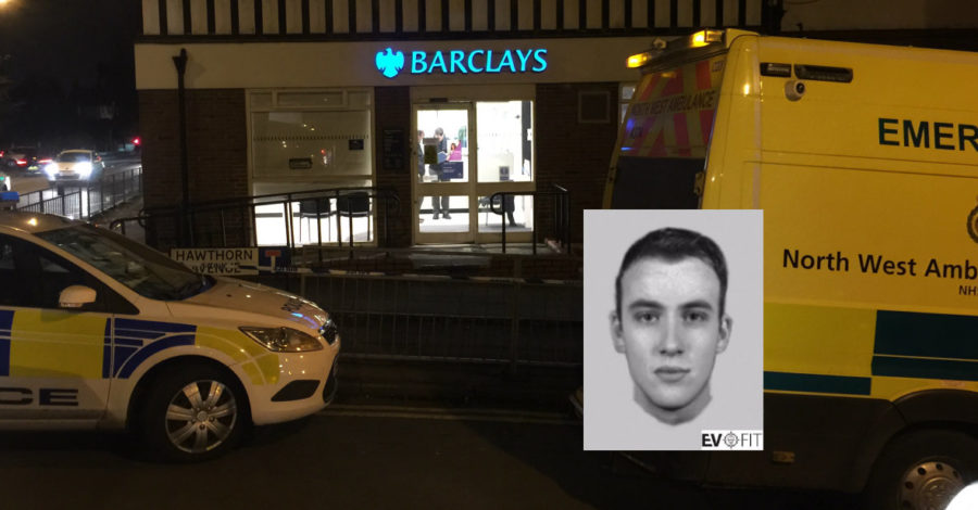 Police release efit of man involved in attempted Barclays Bank robbery in Timperley