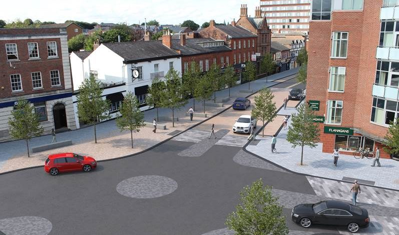 More images released showing how £6m public realm works will change Altrincham