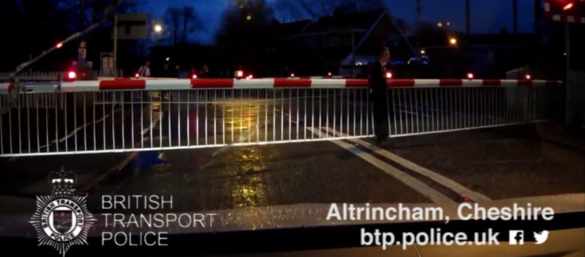 Watch: The moment a boy risked his life at Navigation Road level crossing