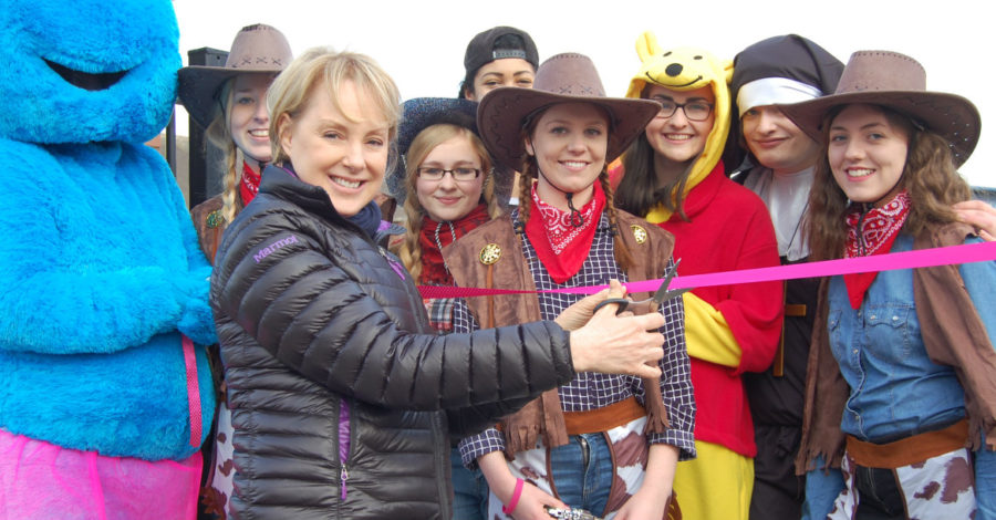 Street star Sally launches Timperley school's charity walk