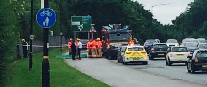 "Driver ""fell ill at the wheel"" before crashing and veering down Timperley embankment"