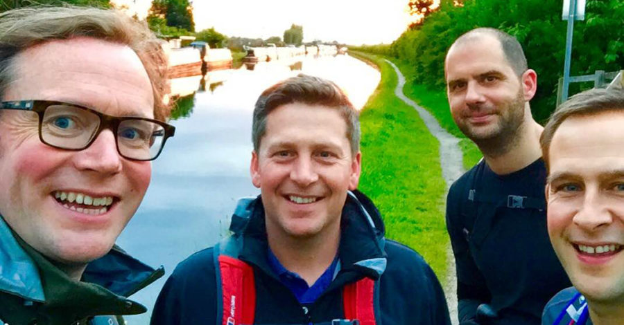 Altrincham friends complete 100km charity walk in memory of tragic Mike
