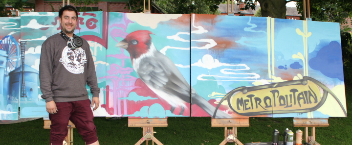 Graffiti artist's giant mural from Altrincham French Festival being auctioned off for cancer charity