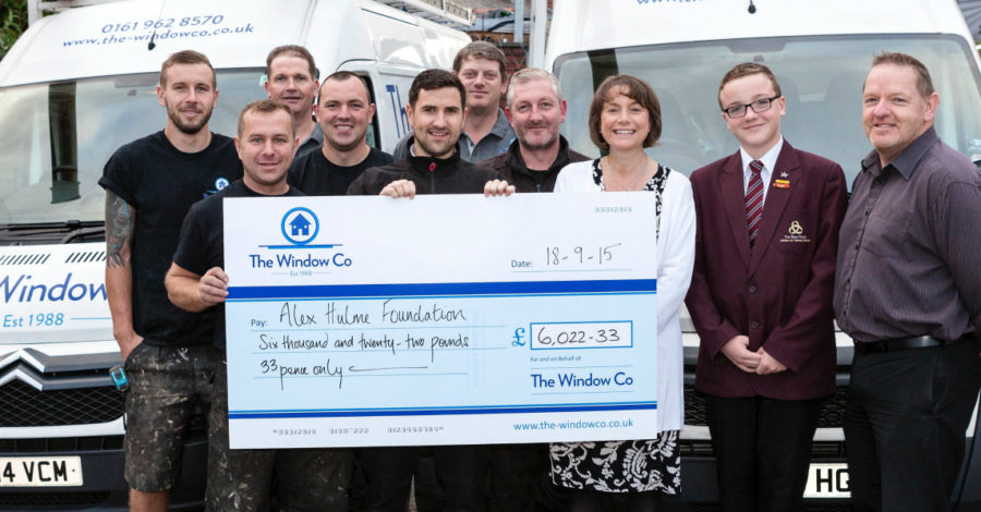 The Window Company raises £6,000 for local children's cancer charity