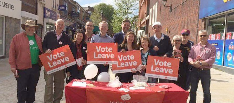 Brady joins Vote Leave campaigners in Altrincham ahead of EU referendum