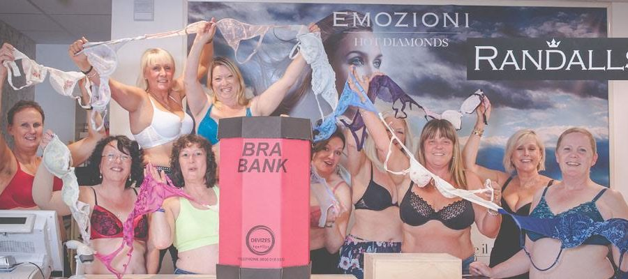 Women team up with Randall Jewellers to launch Altrincham's first 'Bra Bank'
