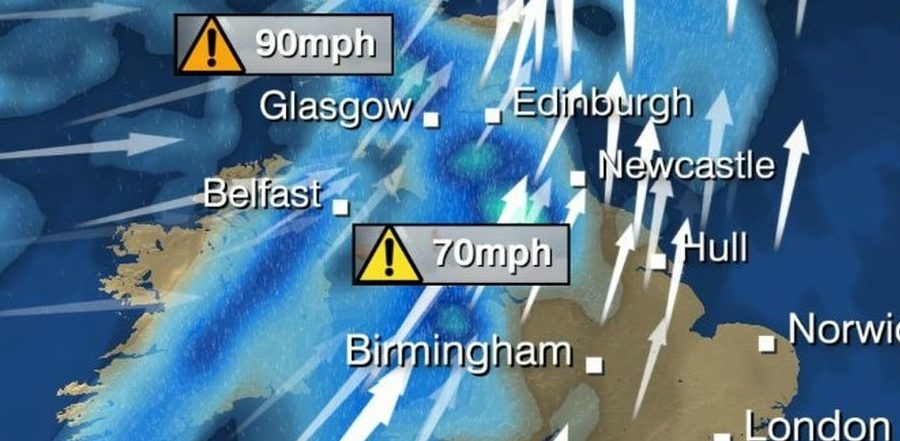 Storm Barbara set to give Altrincham a Christmas battering