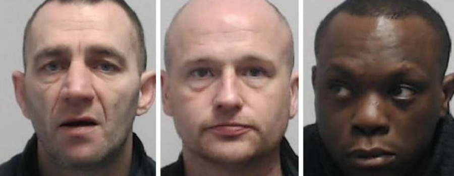 Trio caught red-handed during armed robbery on Altrincham shop jailed for total of 34 years
