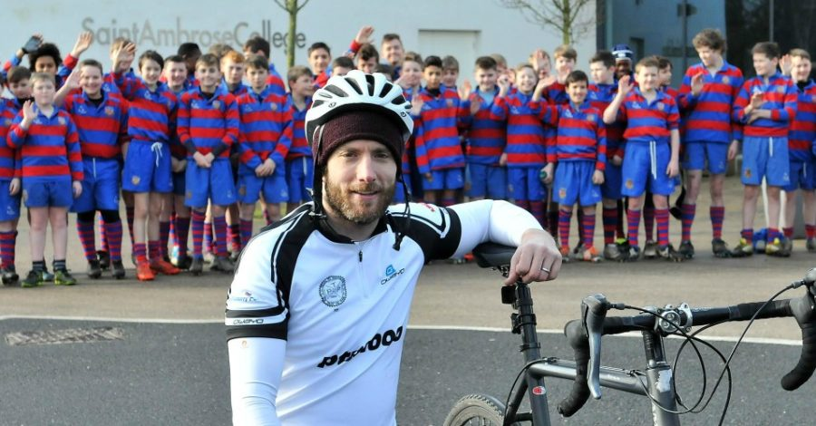Hale pilot sets off on 1,000km bike ride in memory of rugby-loving dad