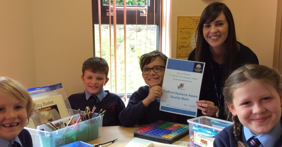 St Vincent's Primary School recognised for becoming more dyslexia-friendly
