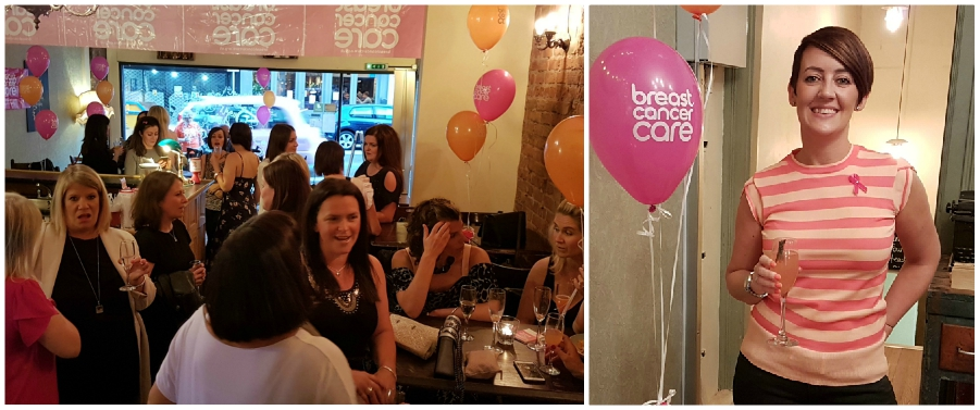 Breast cancer survivor hosts charity event at Sugar Junction and raises £2,000 for Breast Cancer Care