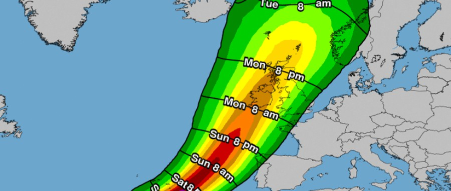 Greater Manchester braces for high winds as remnants of Hurricane Ophelia blows in