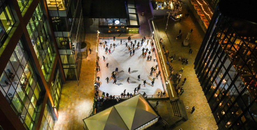 Get your skates on to First Street, the new home of the Manchester Ice Rink