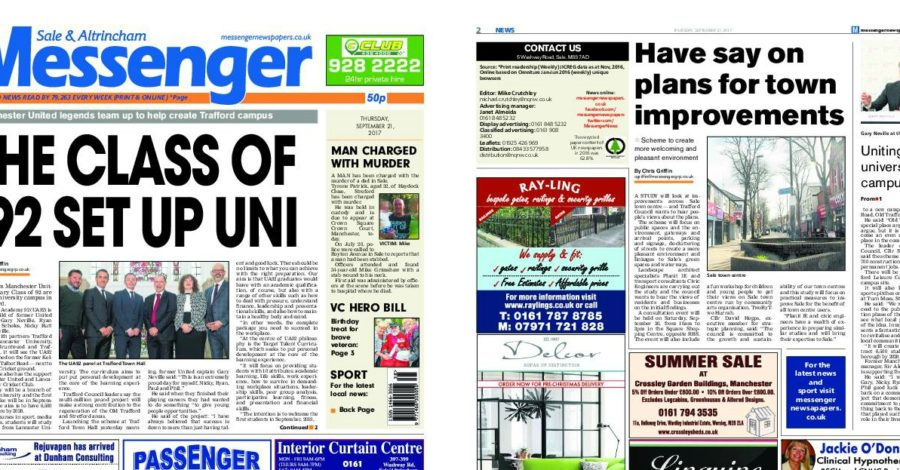 Newsquest to merge Sale and Altrincham Messenger with Stretford and Urmston edition