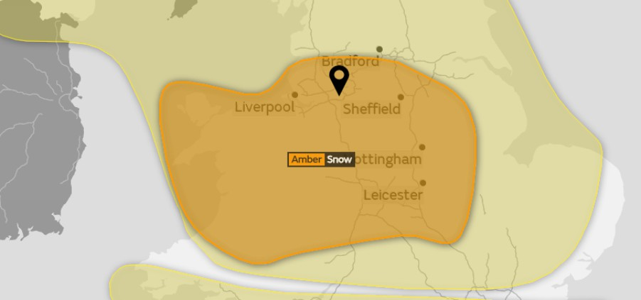 "Around 10cm of snow now ""likely"" in Greater Manchester area on Sunday"
