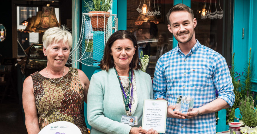 RHS judges and public name Gran T's Coffee House 'Best in Show' in Altrincham floral competition