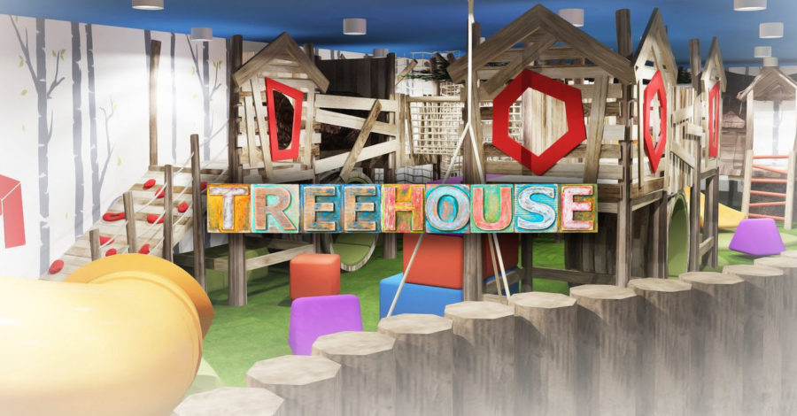 A 7,500 sq ft children's play centre with licensed restaurant, sports area, party rooms and a giant slide is opening in Altrincham