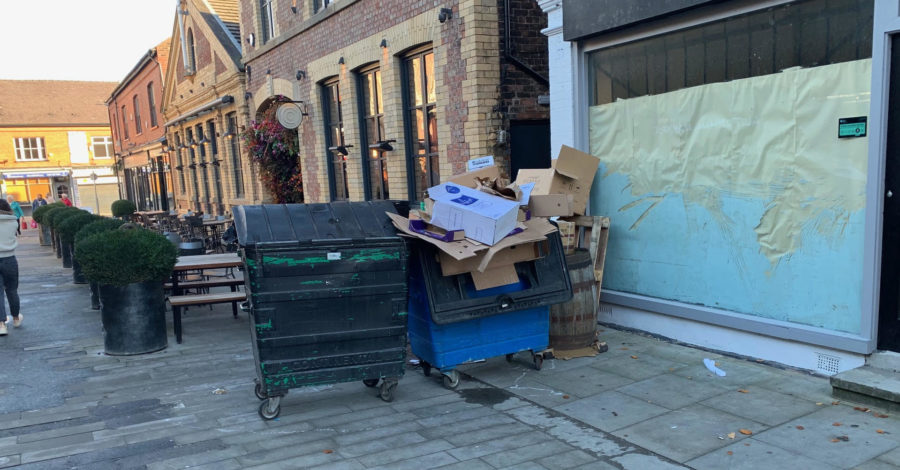 """Altrincham Market's fury at """"continual problem"""" of overflowing bins – days after council contractor was fined £1m"""