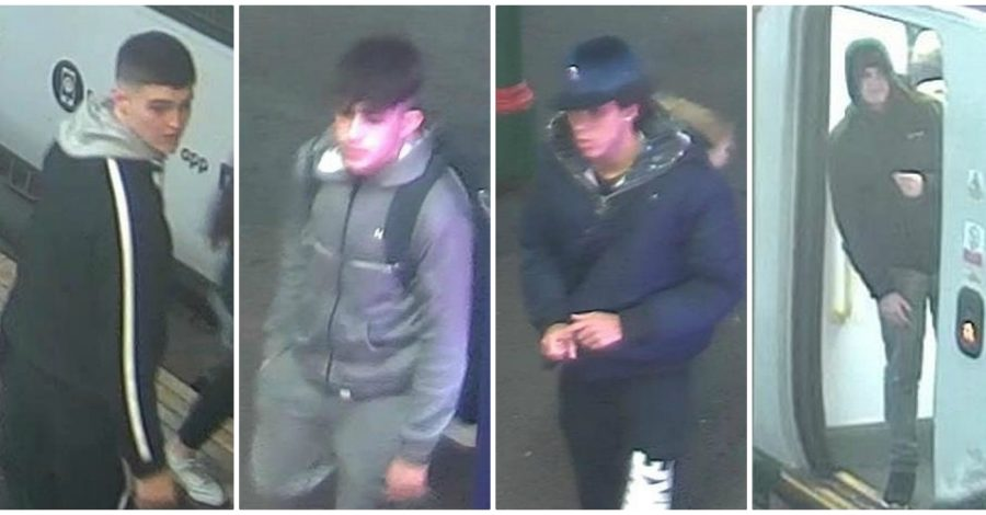 Police hunt gang who broke man's nose during prolonged assault on train from Hale to Navigation Road