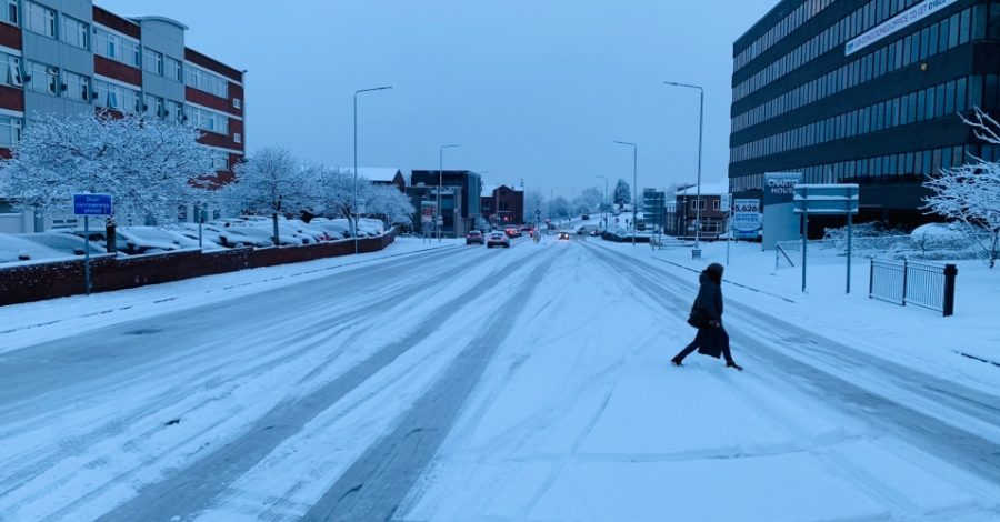 Pictures: Schools close, trains and trams cancelled as snow brings major disruption to Altrincham