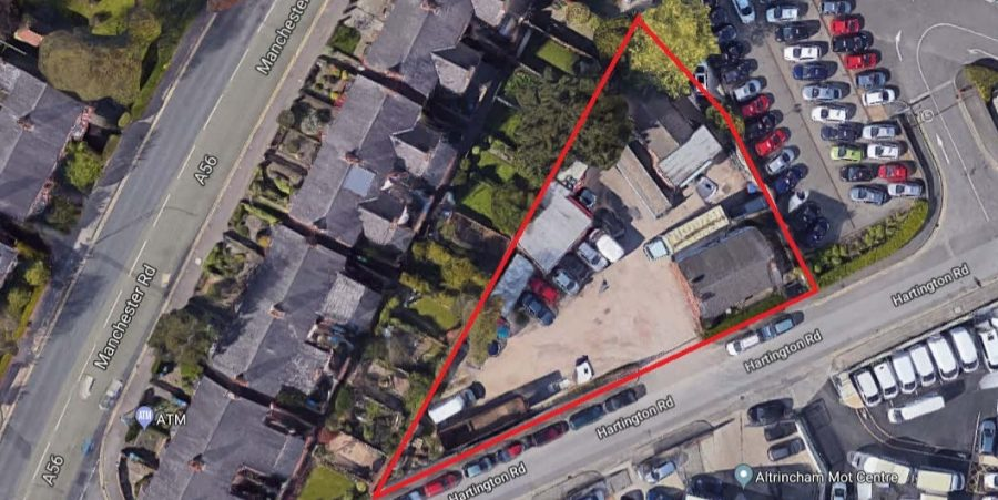 Plans approved for six new homes on brownfield site in Timperley