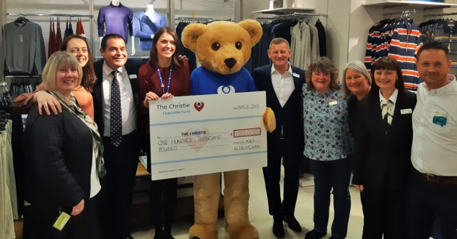 M&S Altrincham staff raise £100,000 for The Christie