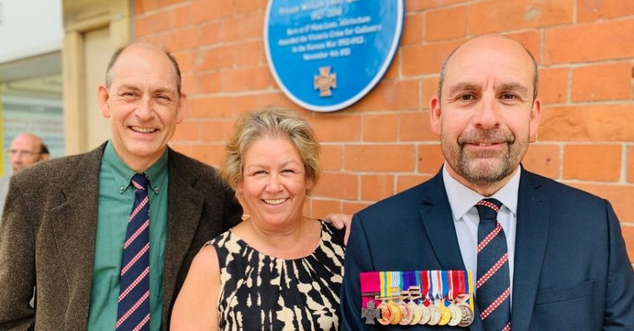 "Youngest son of Bill Speakman VC says the unveiling of a Blue Plaque to his war hero father was a ""very special day"""