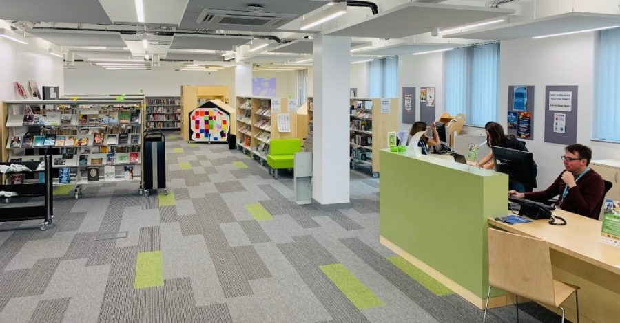 Altrincham Library is to open for browsing for the first time in over a year
