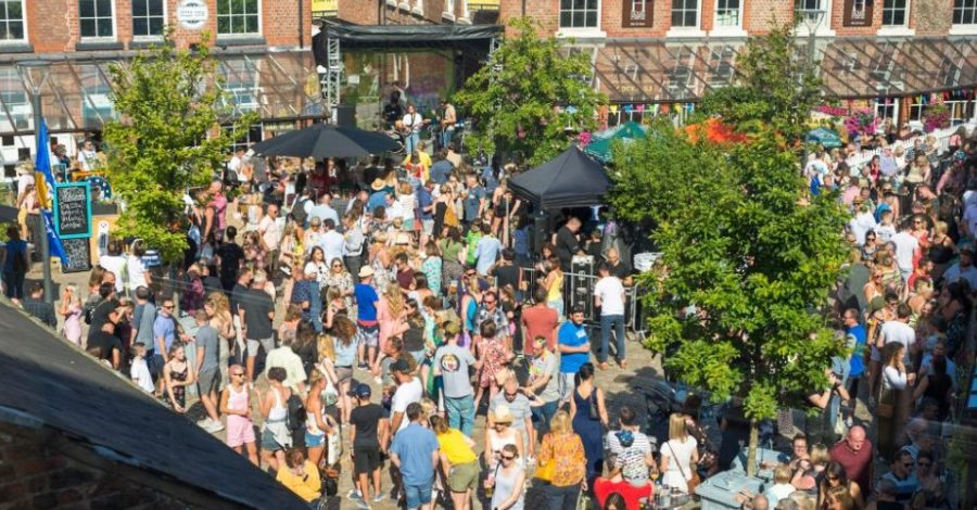 Almost 9,000 visitors made it a record-breaking Goose Green Festival – with the town's footfall up 20% on last year