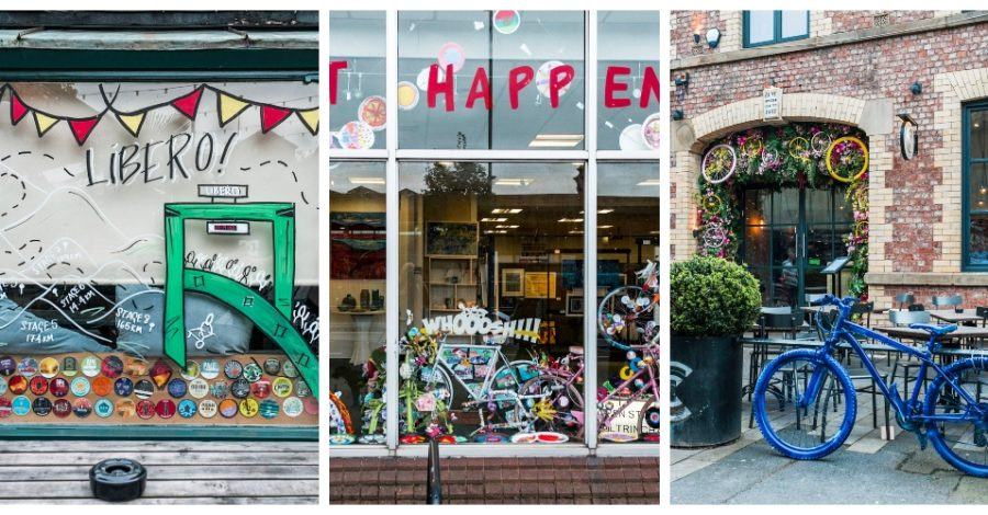 Altrincham Open Studios triumphs as almost 30 businesses enter Bike Themed Window Competition to mark Tour of Britain's arrival