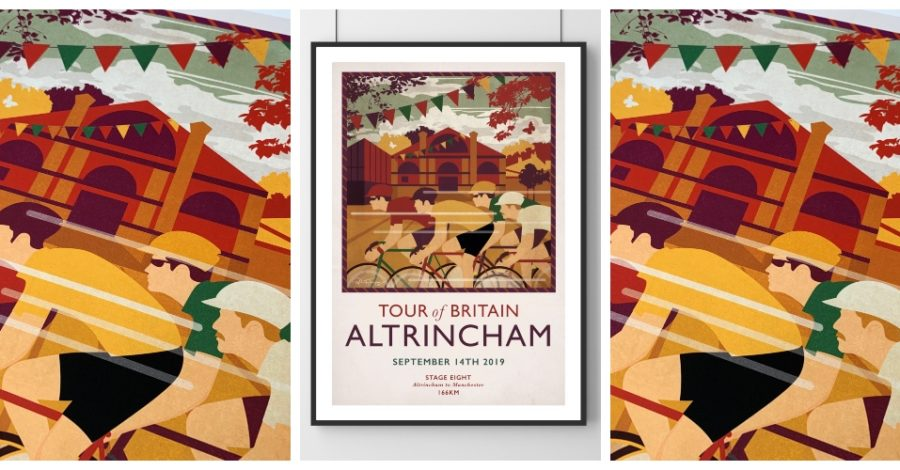 Buy an exclusive Limited Edition print to mark the Tour of Britain coming to Altrincham