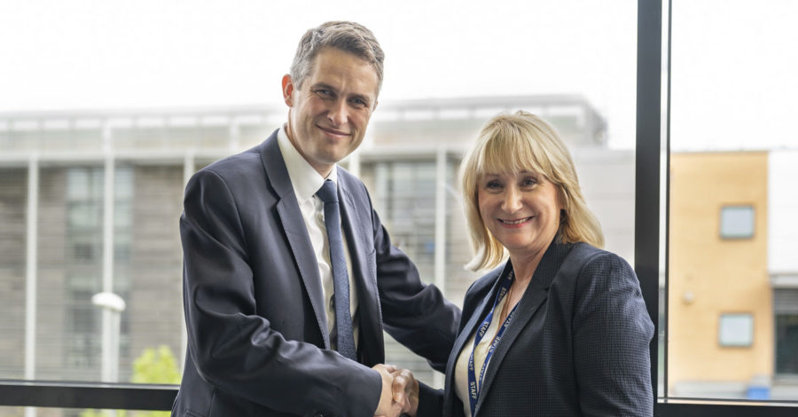 Trafford College welcomes Secretary of State for Education