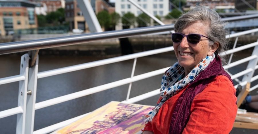 Altrincham amateur Jane to feature on Sky Arts series Landscape Artist of the Year