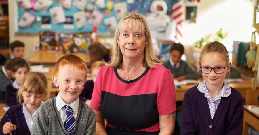 Teacher has no plans to retire as she clocks up 40 years at the same Timperley school