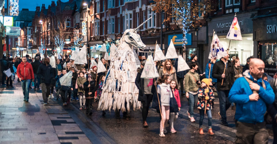 Lantern Parade returns to Altrincham this Saturday with a unique take on the Twelve Days of Christmas