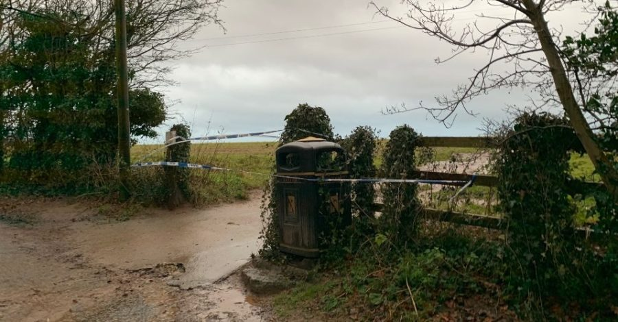 "Man, 19, arrested on suspicion of murder after body found ""in woods"" close to Hale"