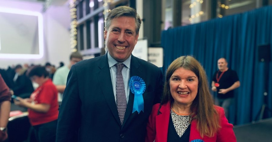 "Sir Graham Brady calls for an end to ""bitterness and rancour"" as he is elected Altrincham and Sale West MP for a seventh time"