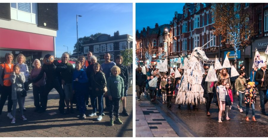 Want to beat the traffic this Saturday? Take a Quietway group walk to Altrincham for the Lantern Parade