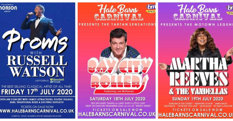 Martha Reeves And The Vandellas, Russell Watson and The Bay City Rollers to headline this year's Hale Barns Carnival