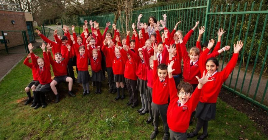 Bollin Primary School plants a Golden Elm tree to mark its 50th anniversary