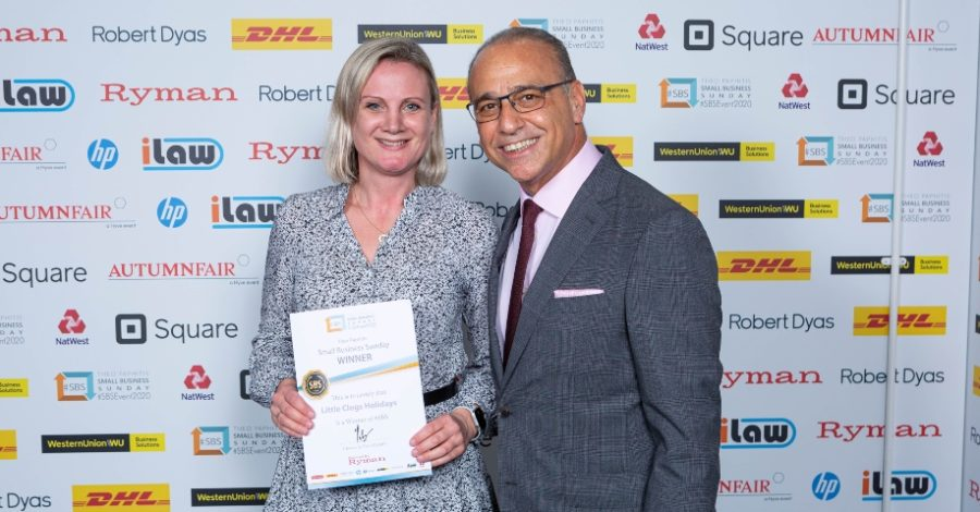 Altrincham-based travel company wins Dragons' Den star's business award