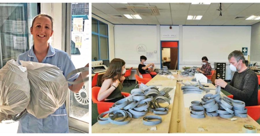 A group of volunteers at an Altrincham arts charity are making thousands of PPE visors for healthcare workers