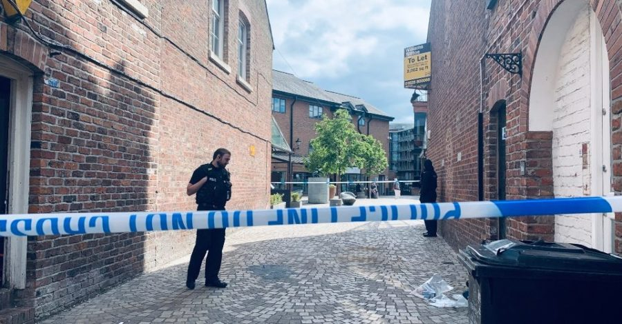 A man's body has been found in Goose Green in Altrincham town centre