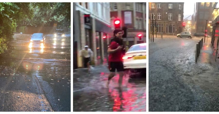 Local businesses flooded and streets deluged as Altrincham hit by freak storm