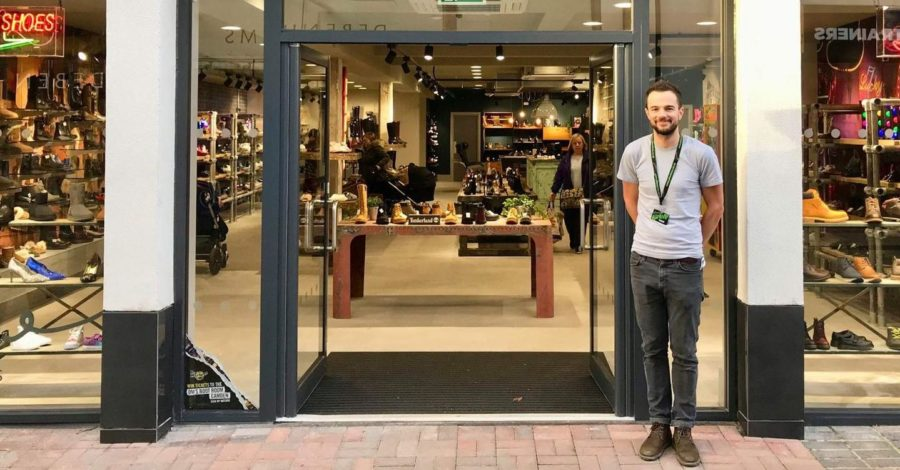 "How has reopening day been for this independent Altrincham shoe shop? ""Brilliant"""